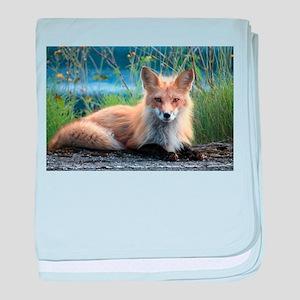 Fox baby blanket
