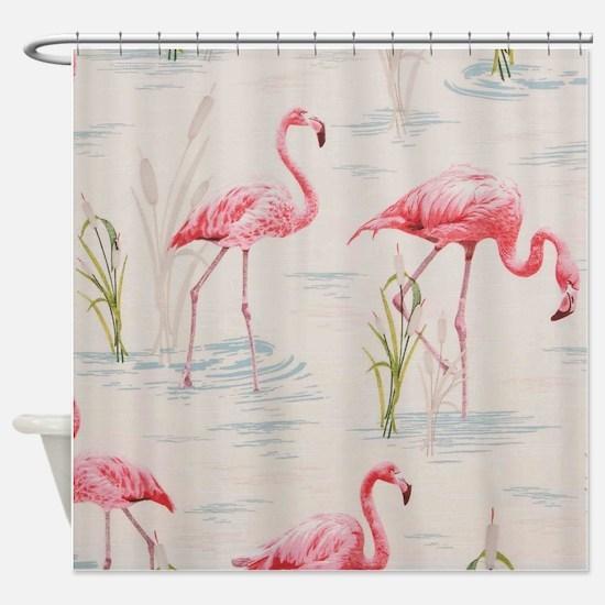 Flamingo Print Shower Curtain