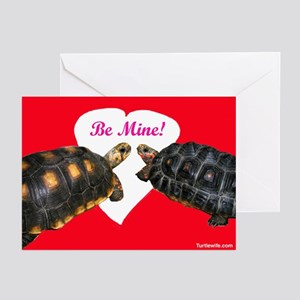 Be Mine Redfoot Tortoises Greeting Cards (Pk of 10