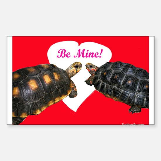 Be Mine Redfoot Tortoises Sticker (Rectangle)