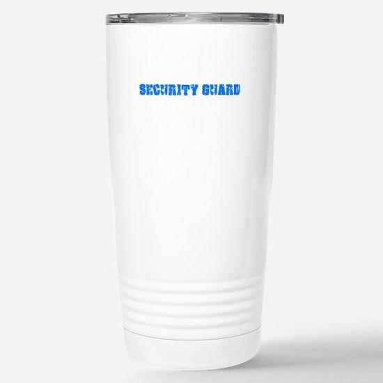 Security Guard Blue Bold Design Mugs