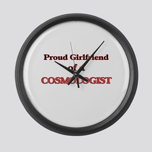 Proud Girlfriend of a Cosmologist Large Wall Clock