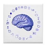 Brain Icon Tile Coaster