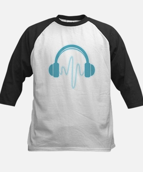 Blue Headphones Baseball Jersey
