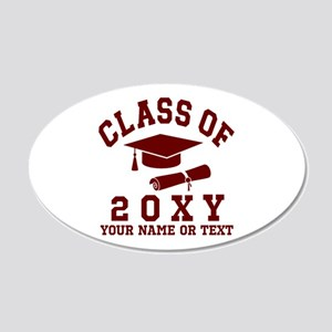Class of 20?? 20x12 Oval Wall Decal