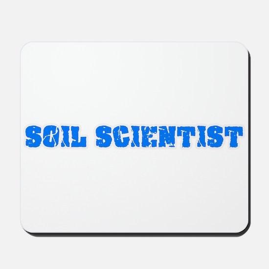 Soil Scientist Blue Bold Design Mousepad