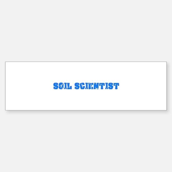 Soil Scientist Blue Bold Design Bumper Bumper Bumper Sticker