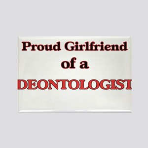 Proud Girlfriend of a Deontologist Magnets