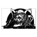 Poe Vignette 4 Rectangle Sticker