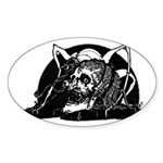 Poe Vignette 4 Oval Sticker