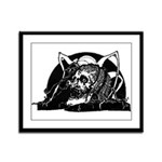 Poe Vignette 4 Framed Panel Print
