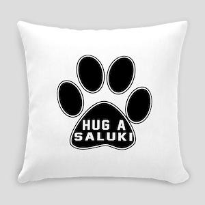 Hug A Saluki Dog Everyday Pillow