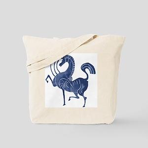 Vintage Flying blue horse Tote Bag