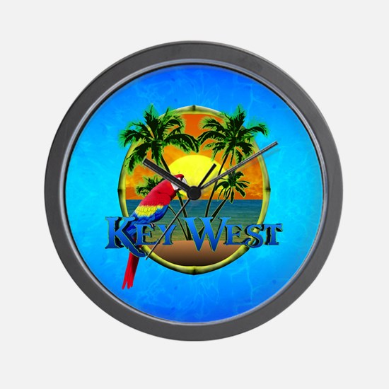 Key West Sunset Wall Clock