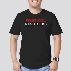 Fight Evil Read Books Men's Fitted T-Shirt (dark)