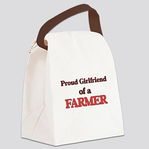 Proud Girlfriend of a Farmer Canvas Lunch Bag