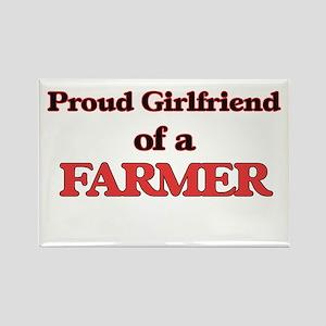 Proud Girlfriend of a Farmer Magnets