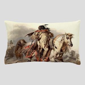 Blackfoot Native American Warrior Pillow Case