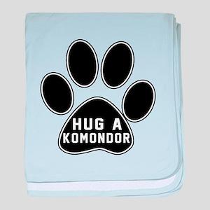 Hug A Komondor Dog baby blanket