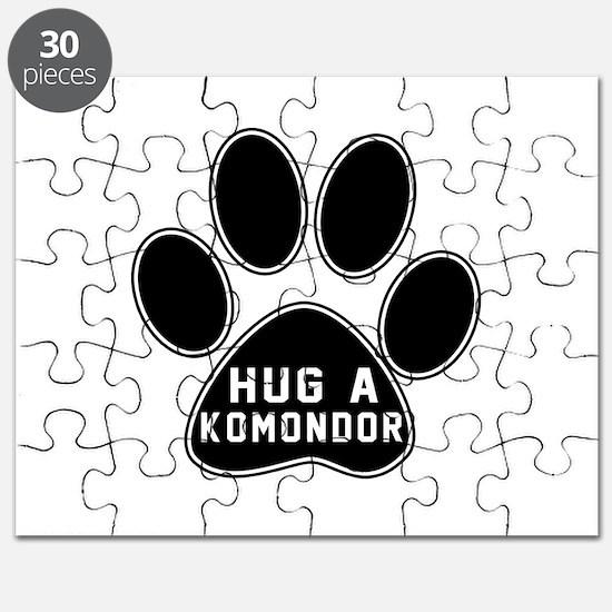 Hug A Komondor Dog Puzzle