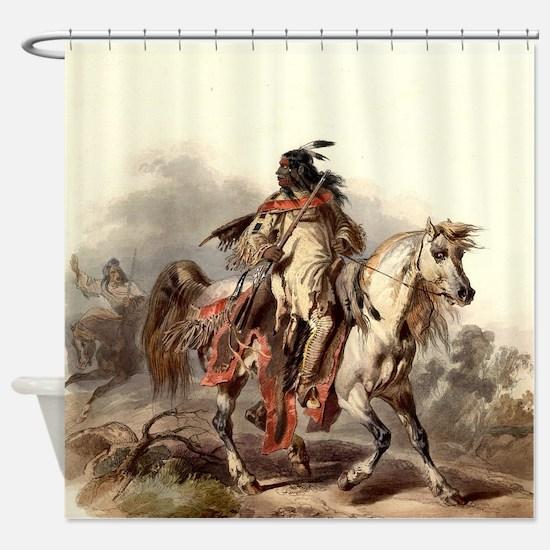 Blackfoot Native American Warrior Shower Curtain