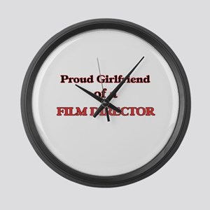 Proud Girlfriend of a Film Direct Large Wall Clock