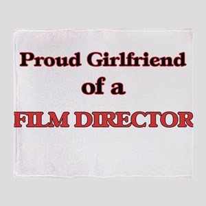 Proud Girlfriend of a Film Director Throw Blanket