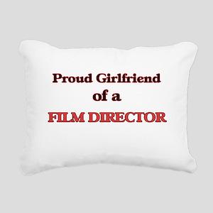 Proud Girlfriend of a Fi Rectangular Canvas Pillow