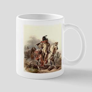 Blackfoot Native American Warrior Mugs
