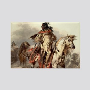 Blackfoot Native American Warrior Magnets