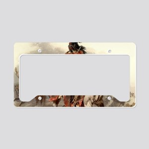 Blackfoot Native American War License Plate Holder