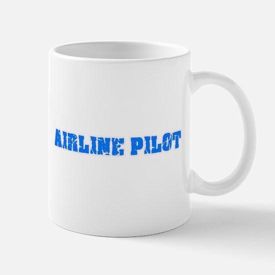 Airline Pilot Blue Bold Design Mugs