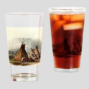 Assiniboin Native Skin Lodge Drinking Glass