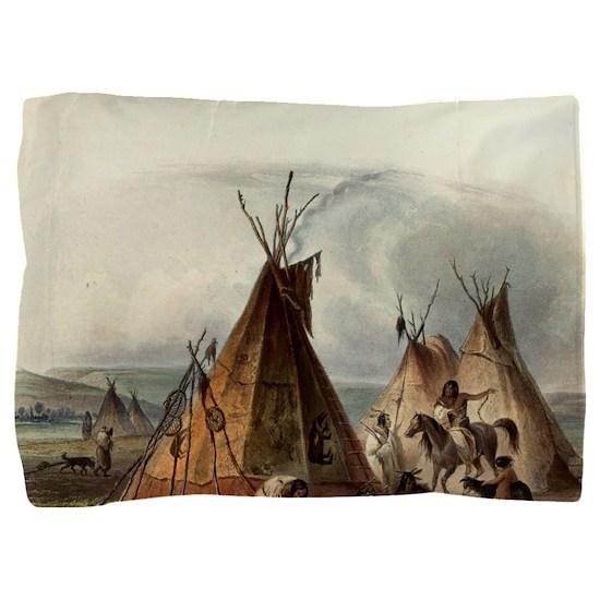 Assiniboin Native Skin Lodge Pillow Sham
