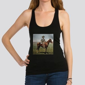Classic Cowboy Horse Artwork Racerback Tank Top