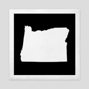 oregon white black Queen Duvet