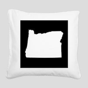 oregon white black Square Canvas Pillow