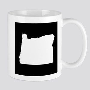 oregon white black Mug