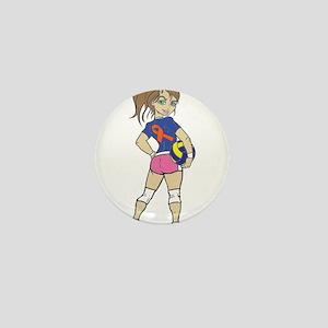VOLLEY GIRL Mini Button