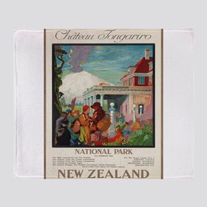 Vintage poster - New Zealand Throw Blanket