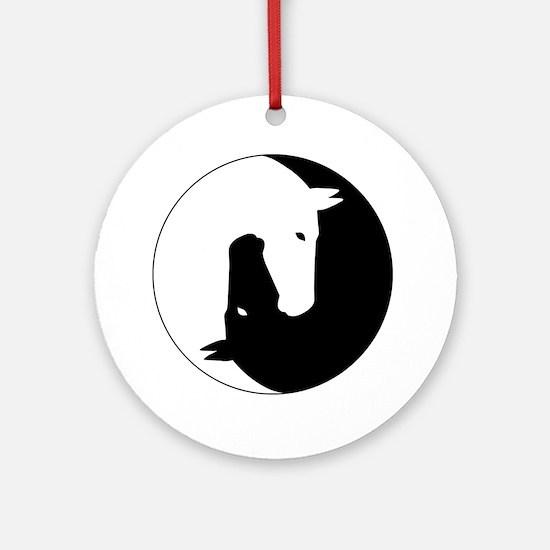 Cute Yin yang Round Ornament
