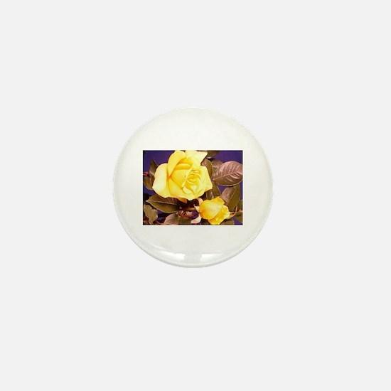 Yellow rose photography Mini Button