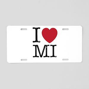 I Love MI Michigan Aluminum License Plate