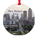 Des Moines Round Ornament