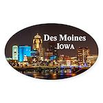 Des Moines Sticker (Oval 50 pk)