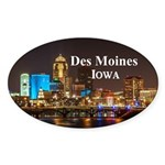 Des Moines Sticker (Oval 10 pk)