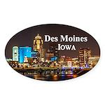 Des Moines Sticker (Oval)