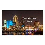 Des Moines Sticker (Rectangle)