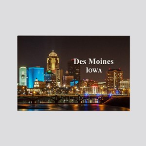 Des Moines Rectangle Magnet