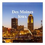 """Des Moines Square Car Magnet 3"""" x 3"""""""